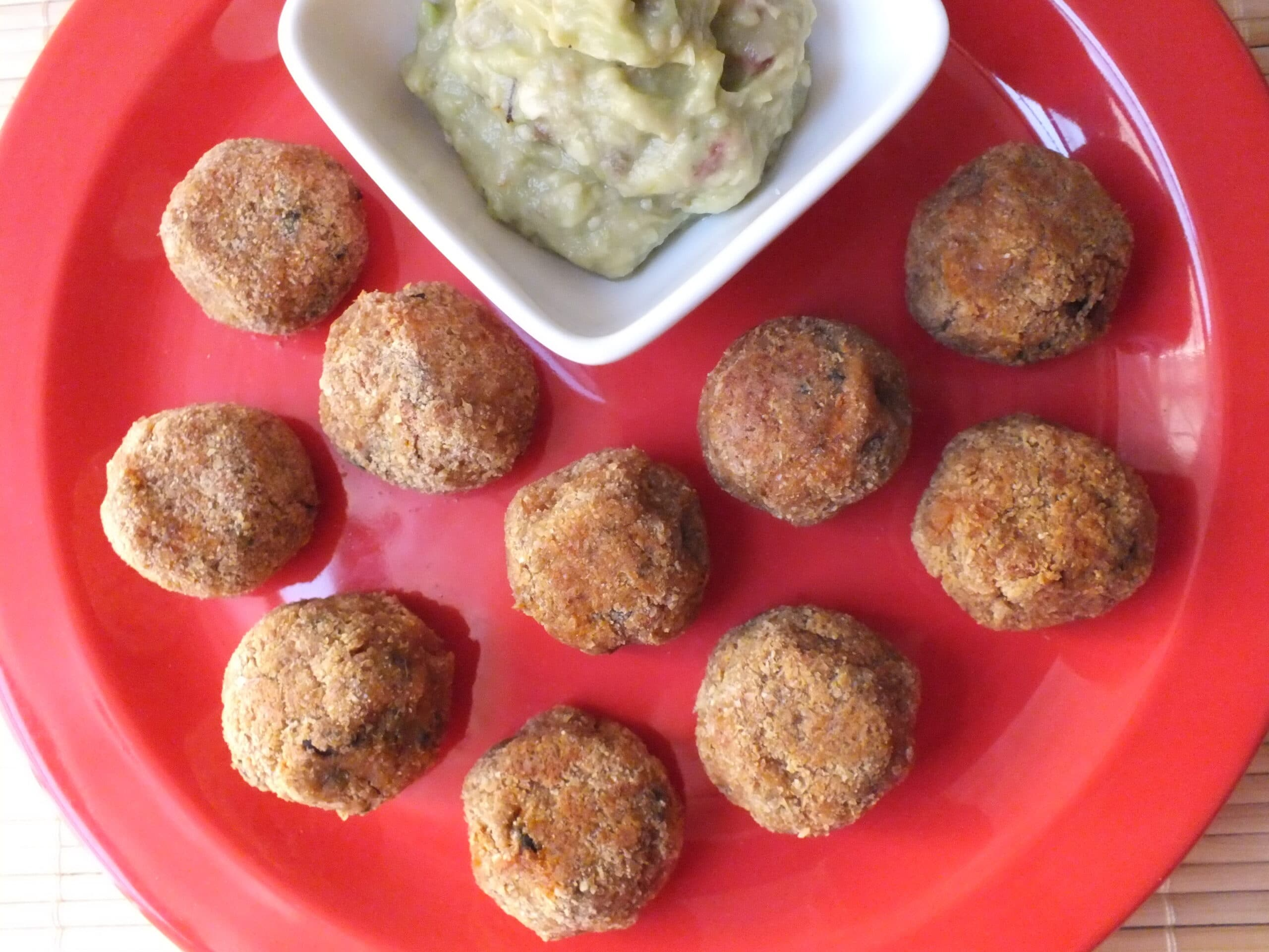Spicy Sweet Potato Bites with Avocado Lemon Dip [Vegan, Gluten-Free]