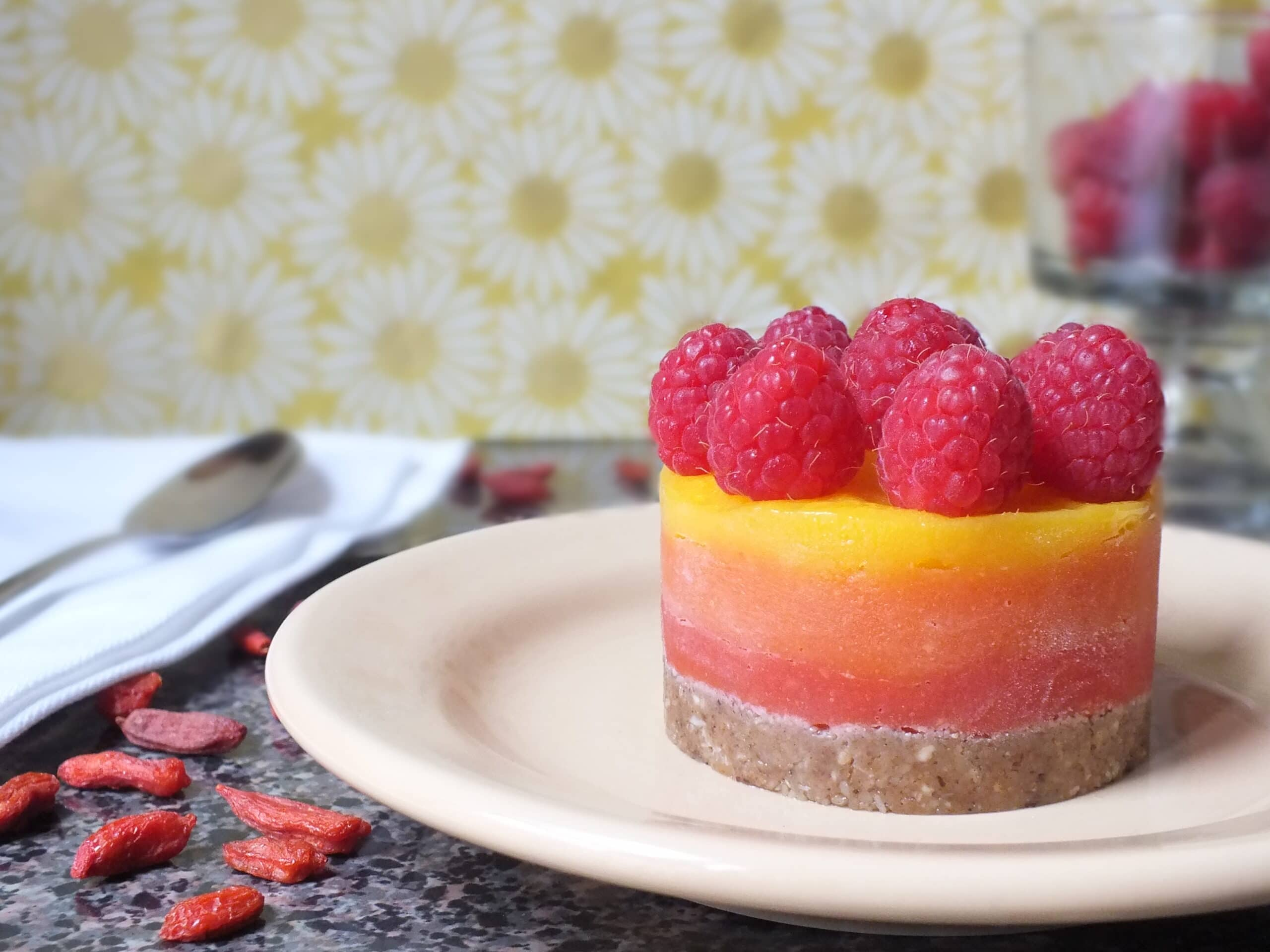 Berry Mango Sunrise Tarts