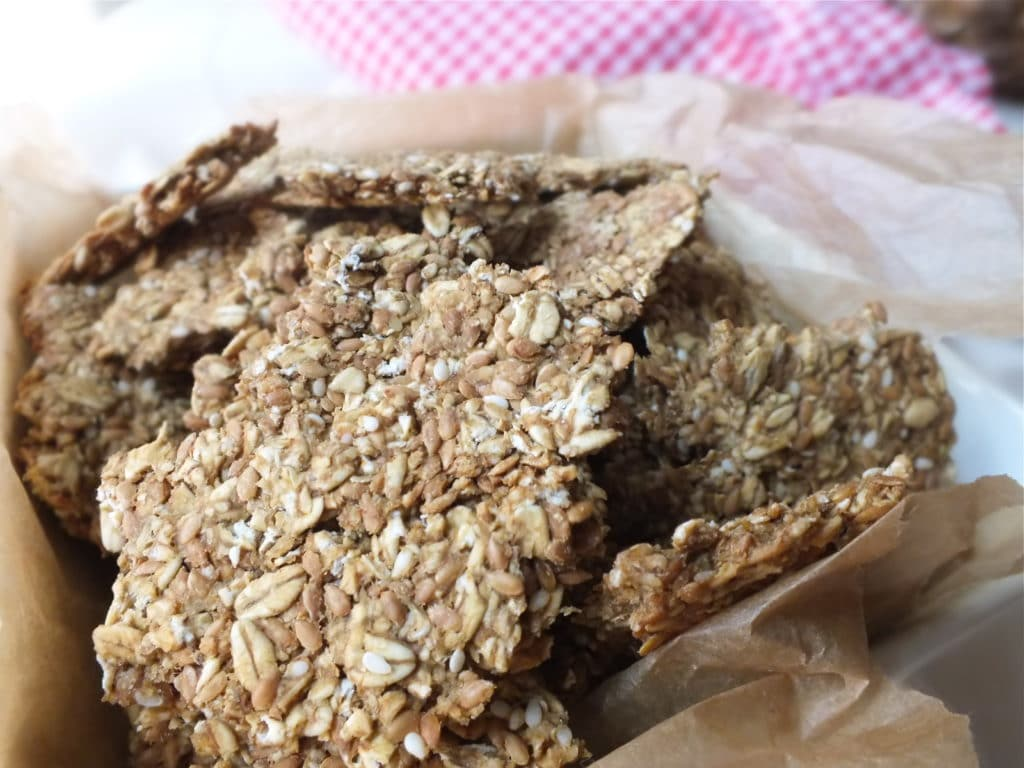 Pineapple Salsa and Flax-Oat Crackers [Vegan, Gluten-Free]