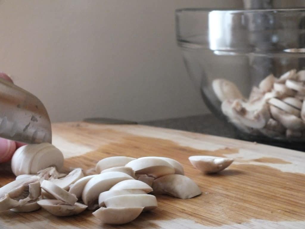 Mushrooms Chopping Board Knife
