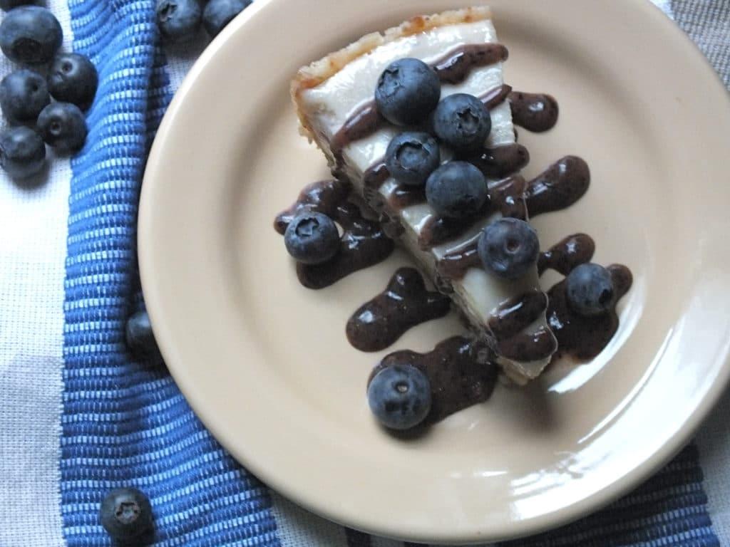 Lemon Berry Cheesecake [Raw, Gluten-Free, Dairy-Free, Vegan Option]