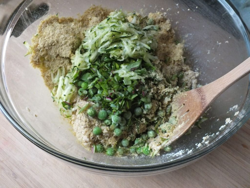 Savory Quinoa Cakes Mix Spoon Bowl