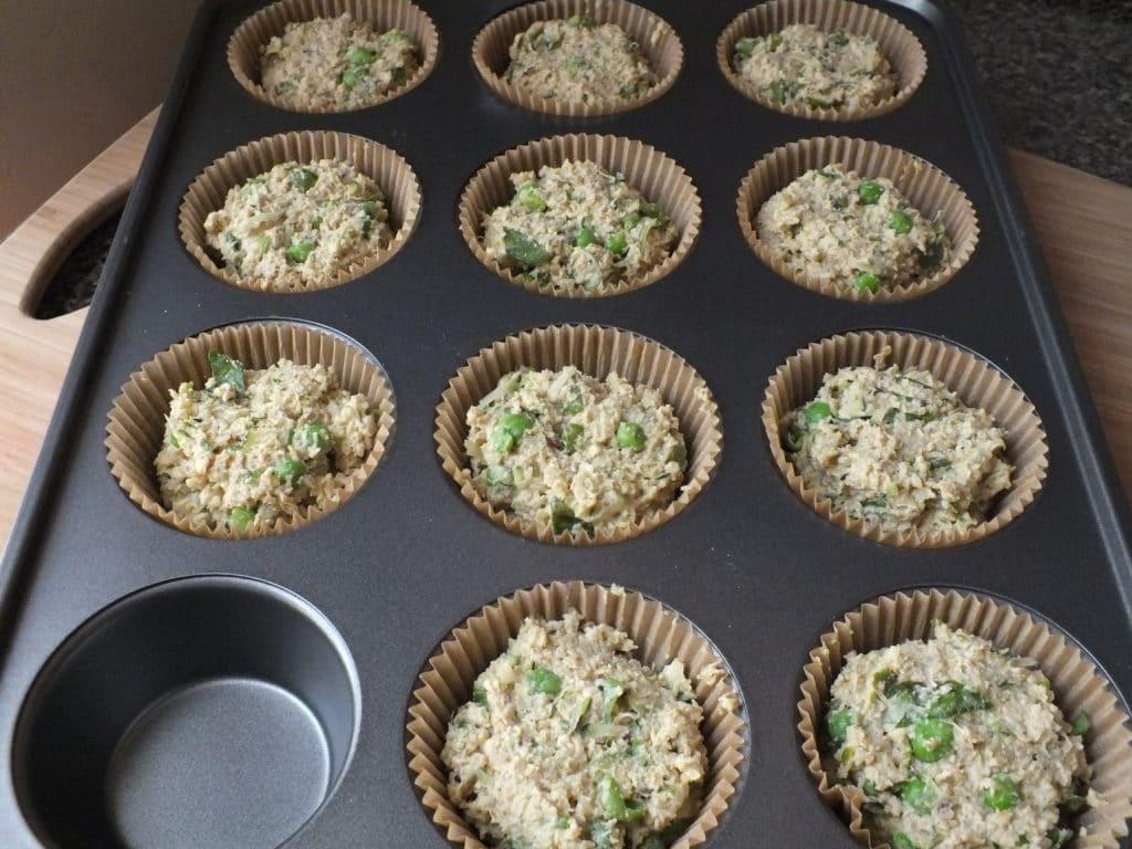Savory Quinoa Cakes Baking Tray