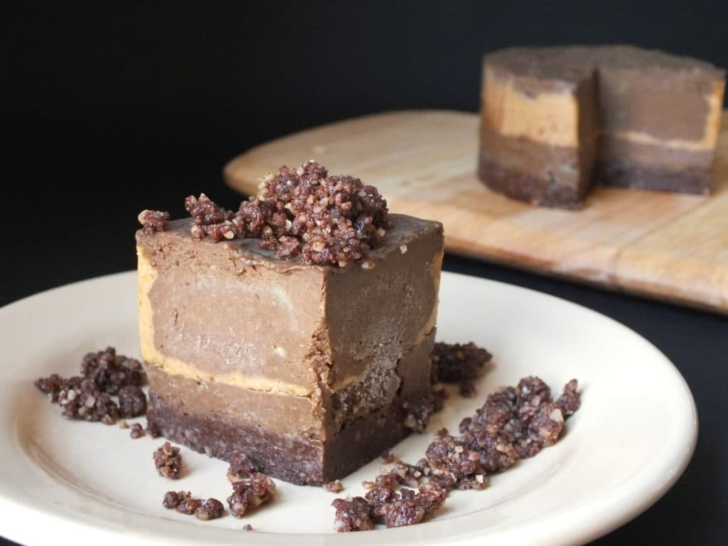 Raw Chocolate Peanut Butter Tart