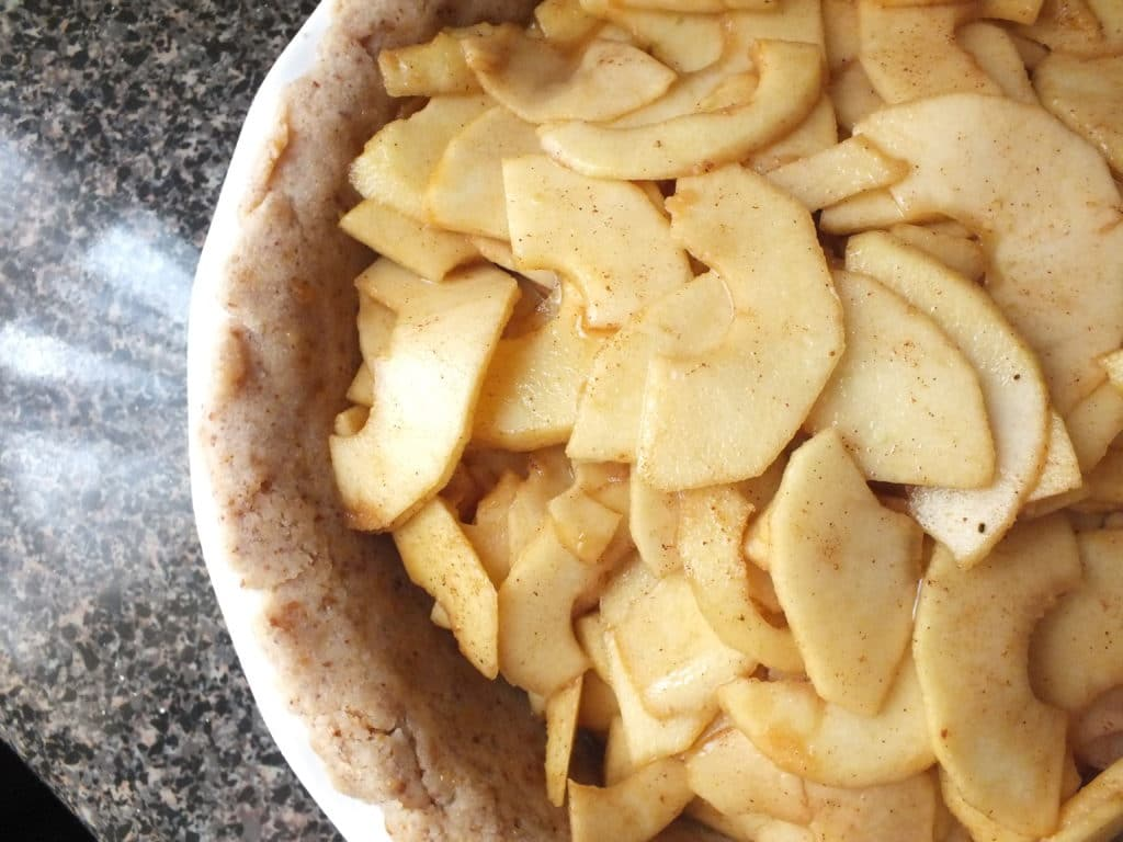 Americana Apple Pie Close up