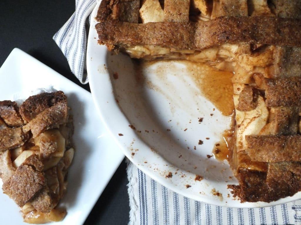 Slice of Americana Apple Pie on plate