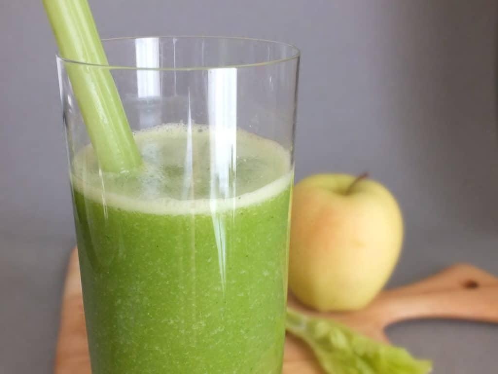Celery, Cilantro, & Golden Delicious -- Detox Juice
