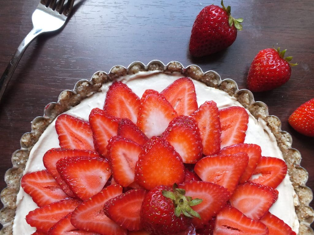 Strawberries and Cream Tart - The Fitchen