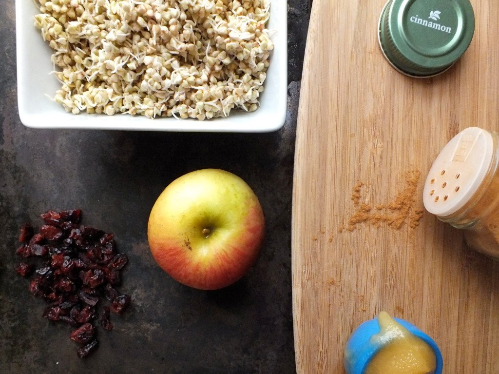 Sprouted Buckwheat Cereal Apple Chopping Board