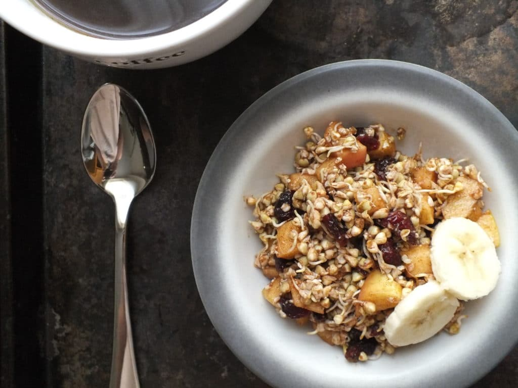 Sprouted Buckwheat Cereal Banana Spoon