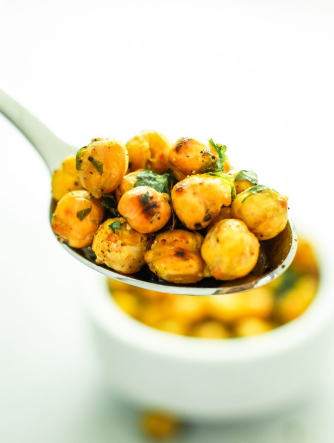 Roasted Garlic Chickpeas