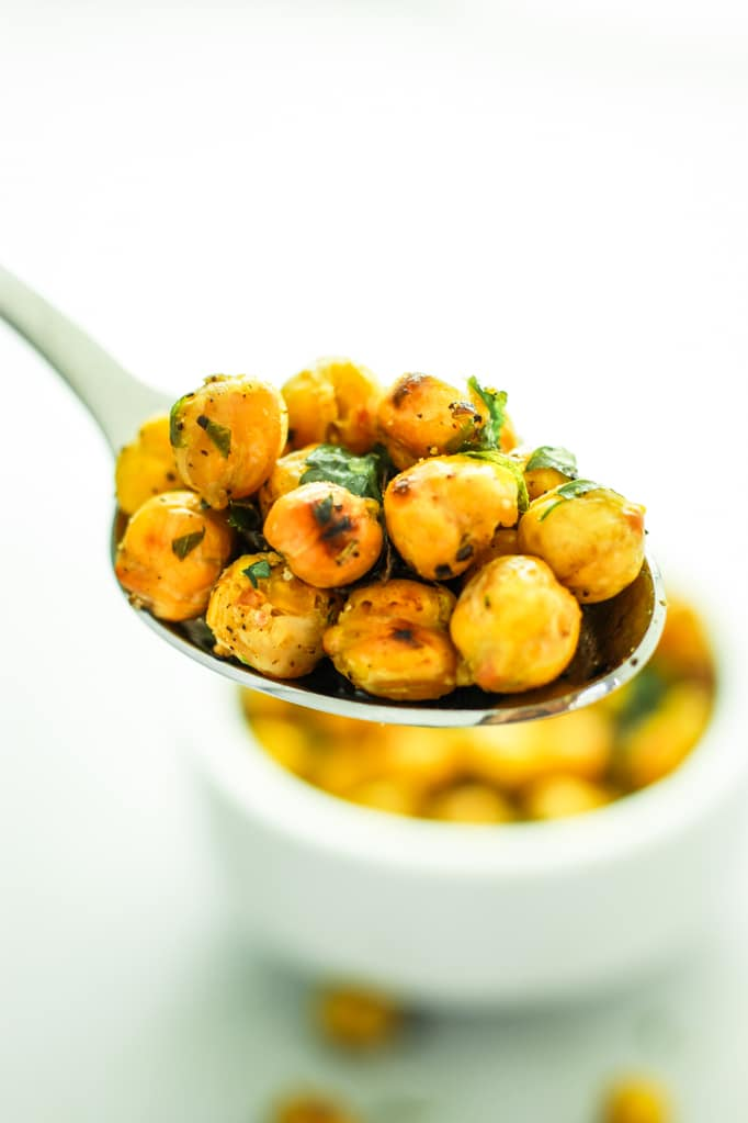 Roasted Garlic Chickpeas