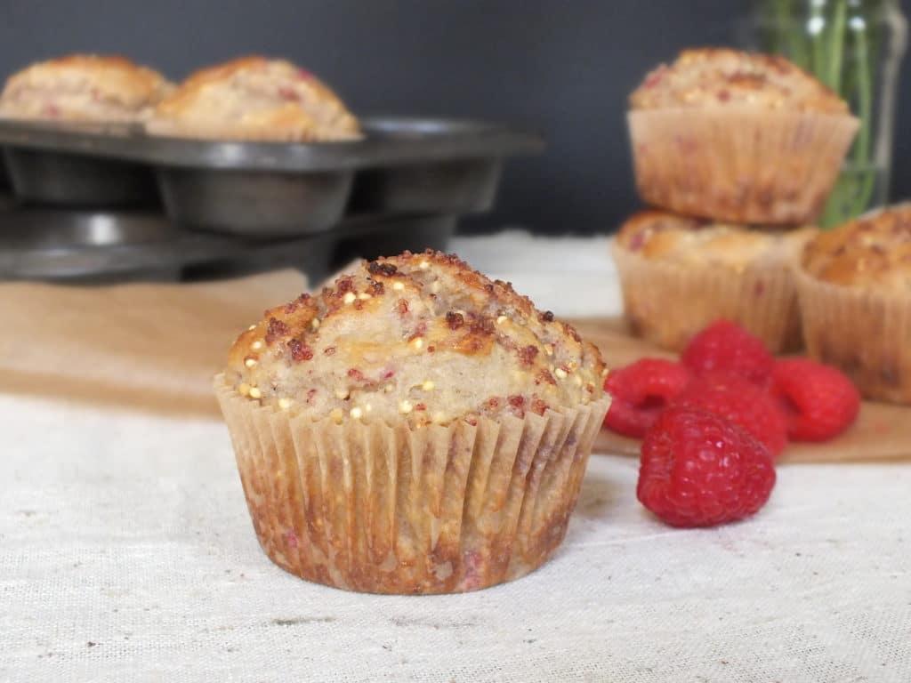 Raspberry Lemon Millet Muffins
