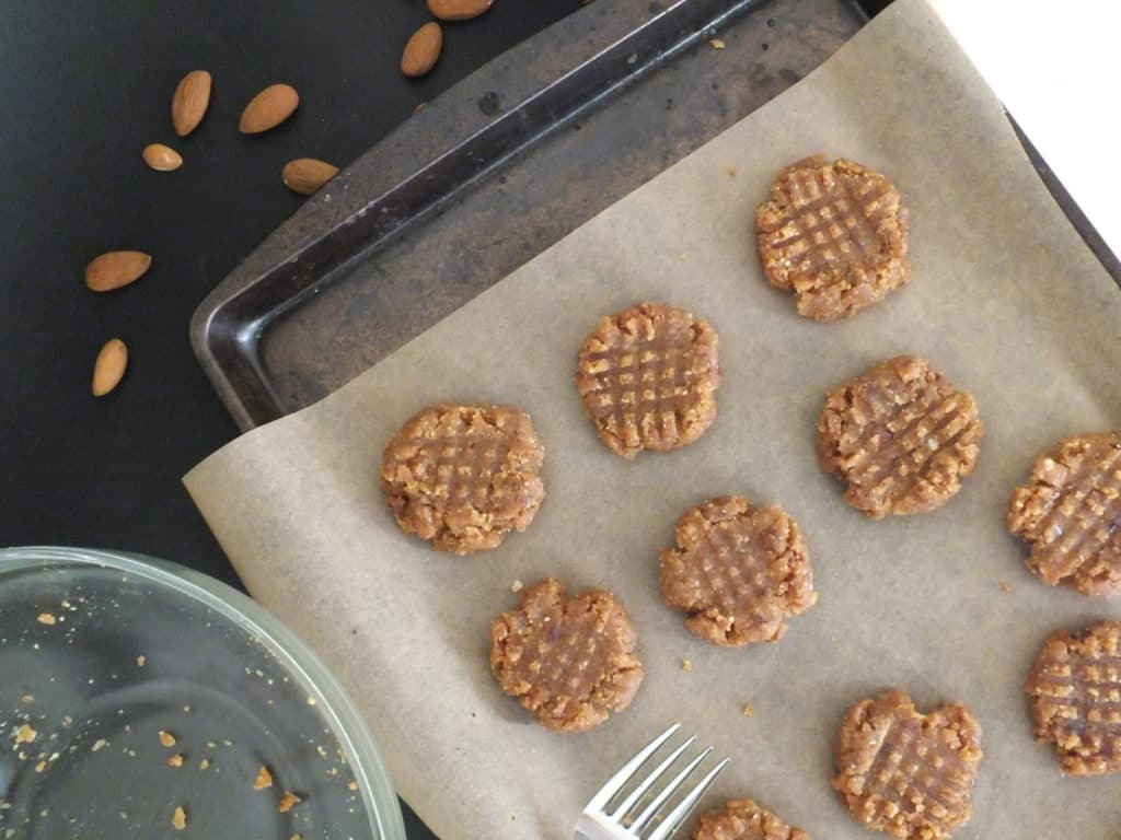 Raw Peanut Butter Cookies Oven Tray