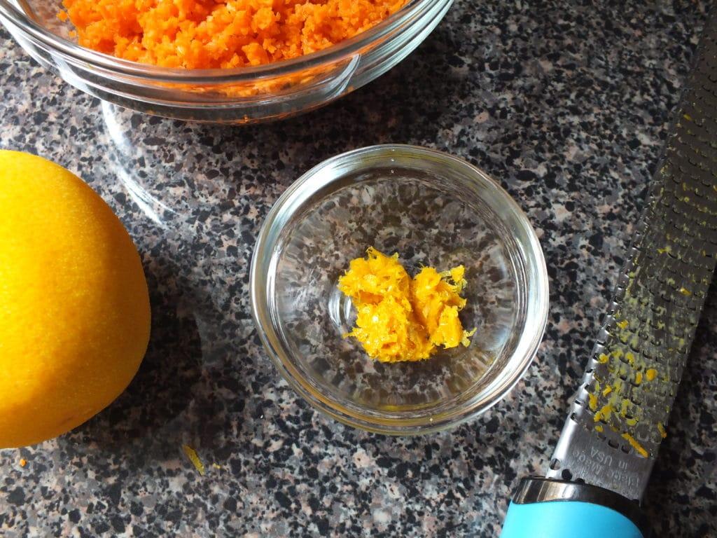 Grated Carrot Lemon Bowl
