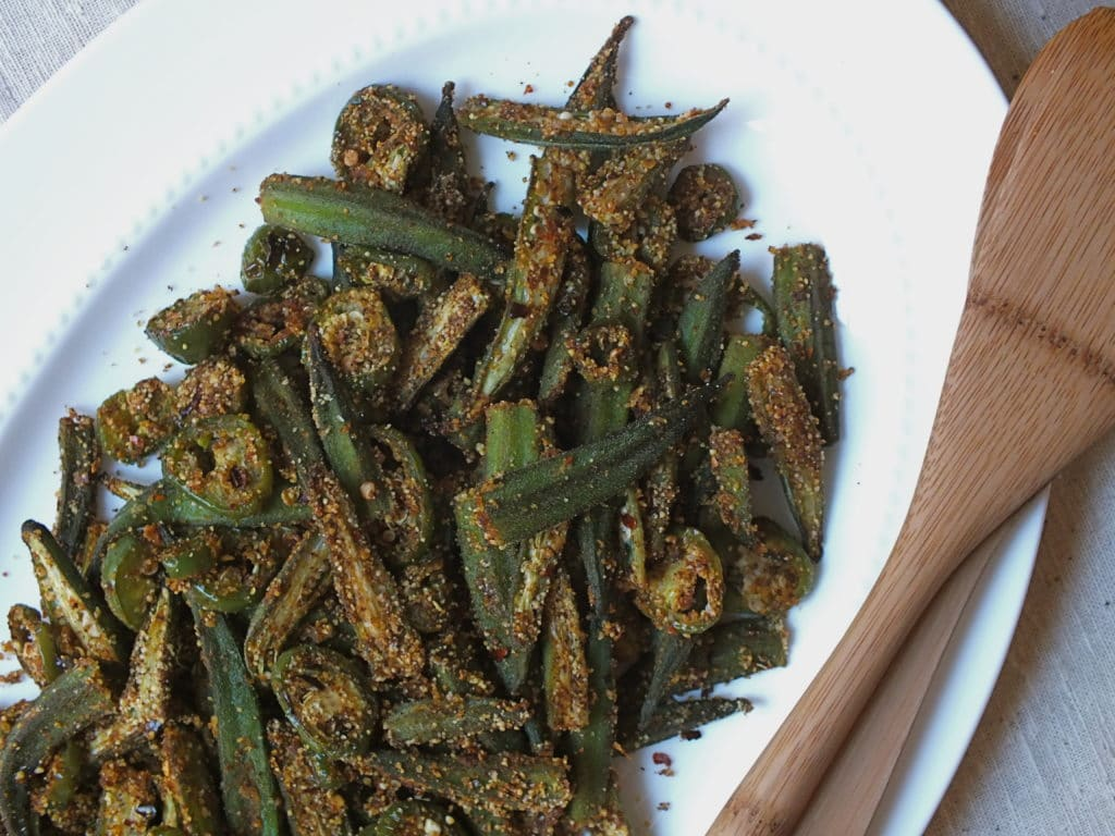 Spicy Oven Roasted Okra The Fitchen