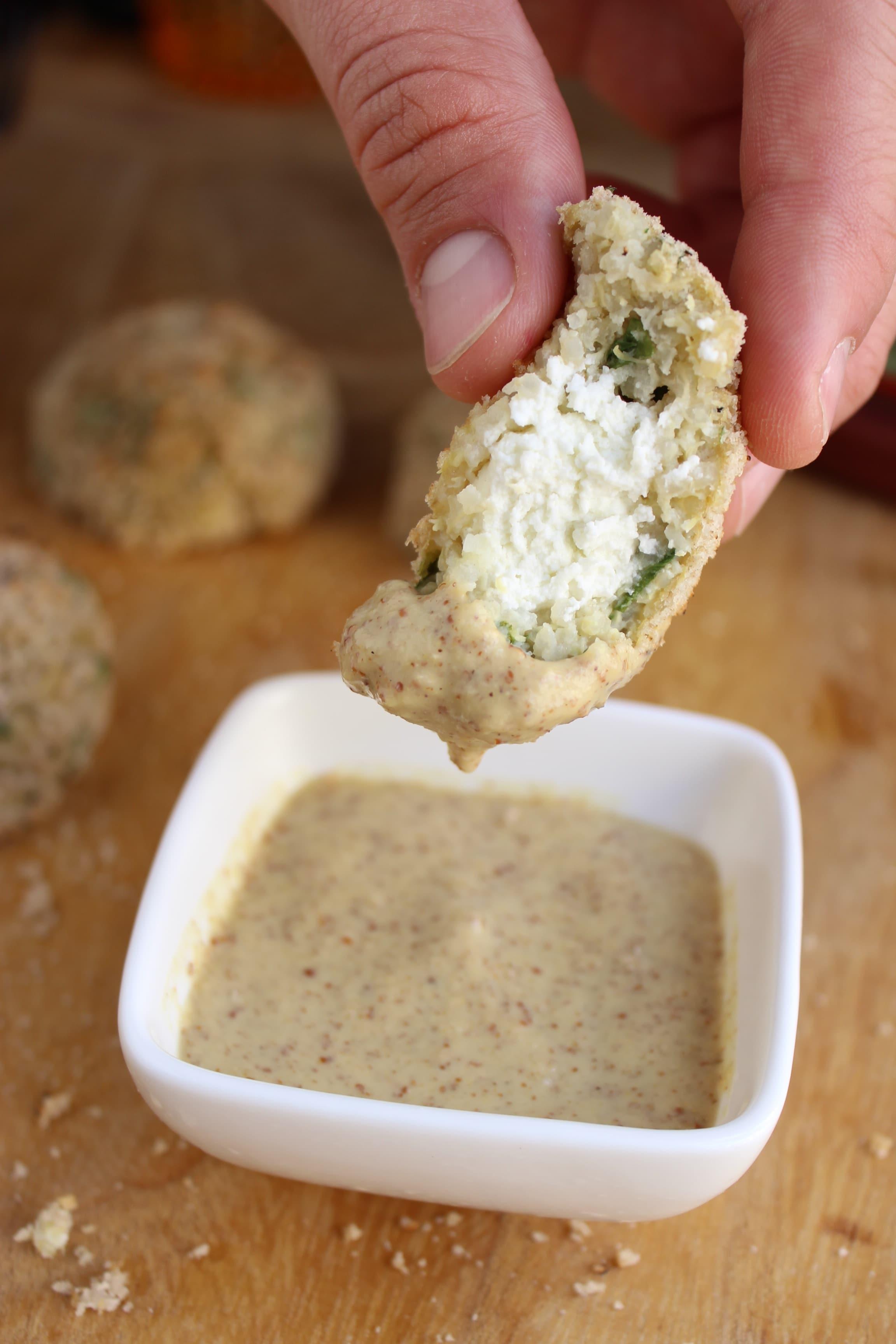 Goat Cheese Stuffed Quinoa Nuggets