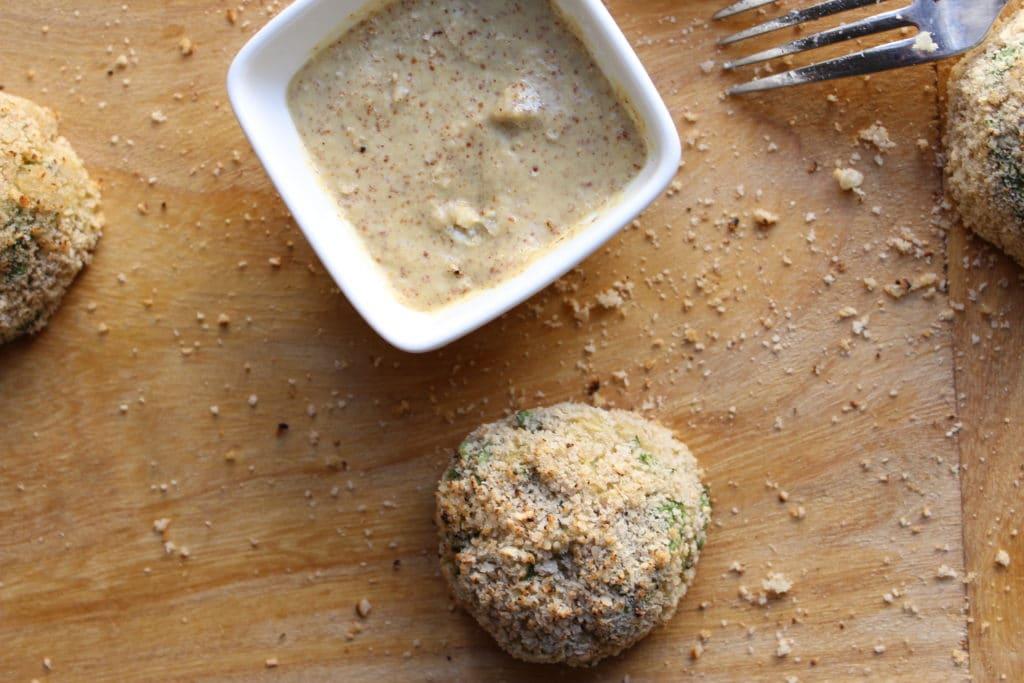 Goat Cheese Stuffed Quinoa Nuggets Fork Dip
