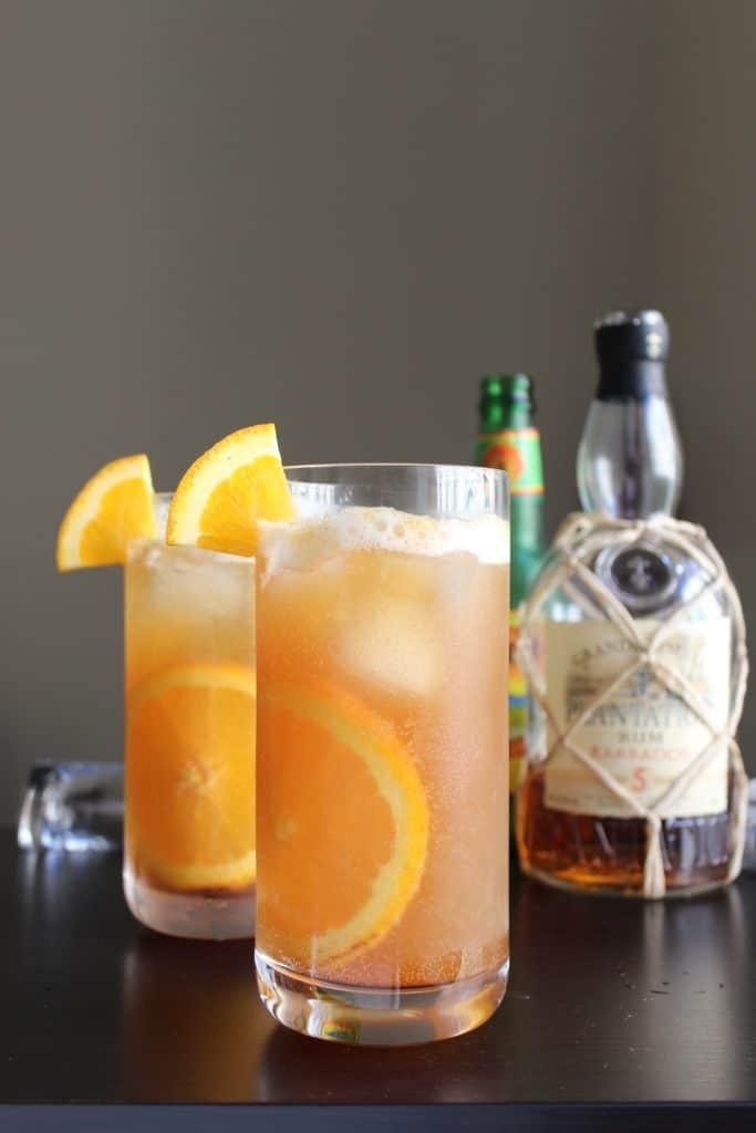 Dark 'n Stormy Rum Bottle Glasses