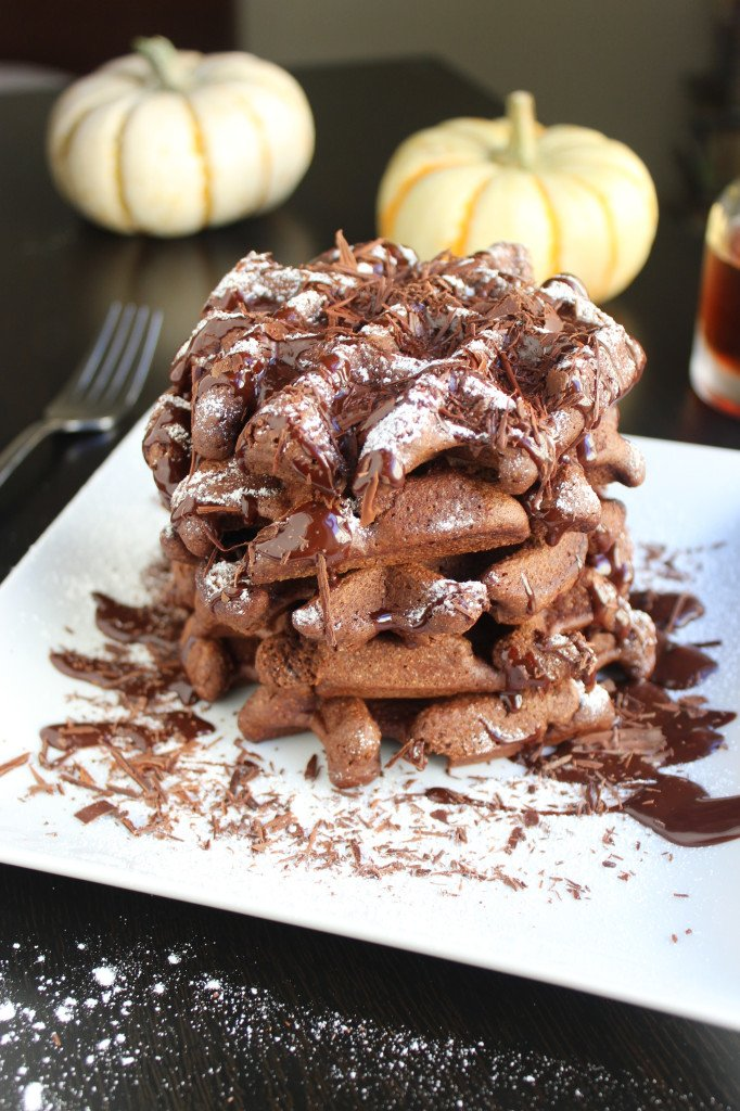 Double Chocolate Belgian Waffles