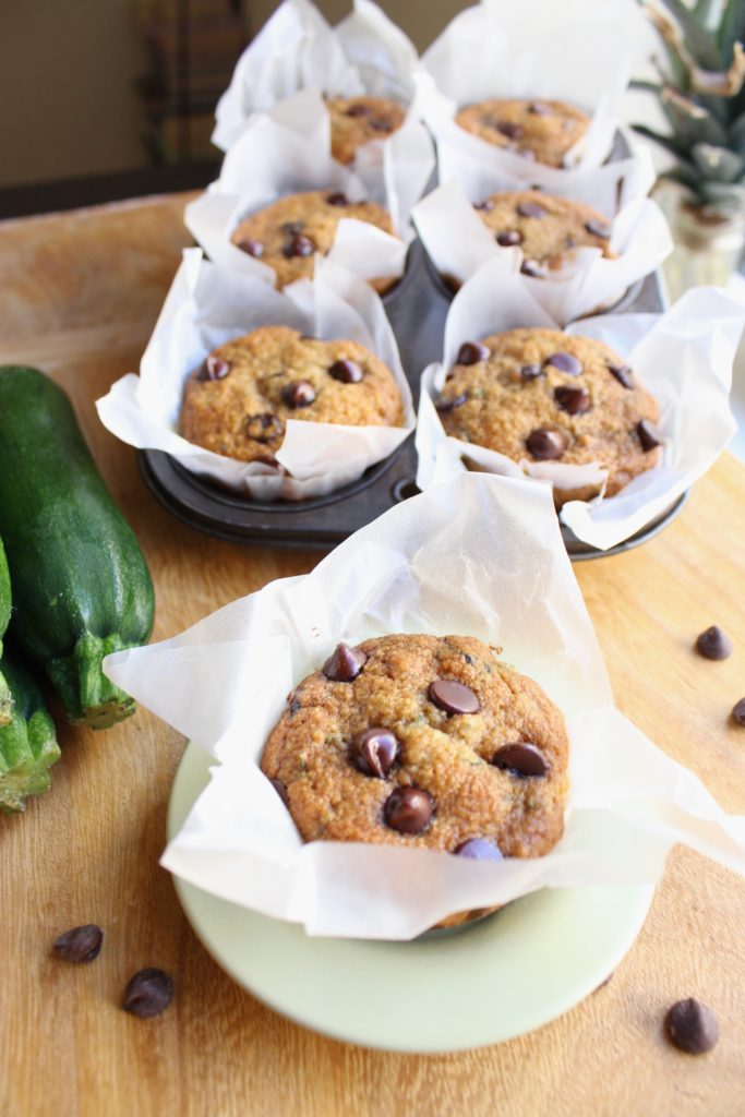 Chocolate Chip Zucchini Muffins Courgettes