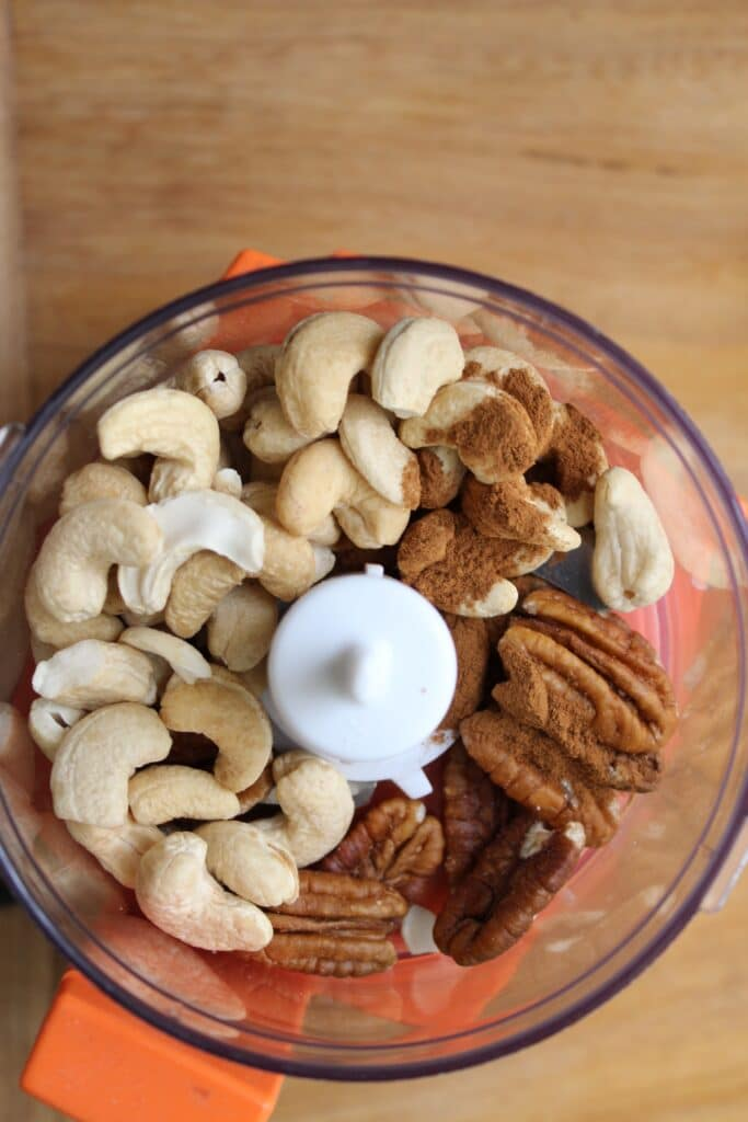 Assorted Nuts in Mixing Bowl
