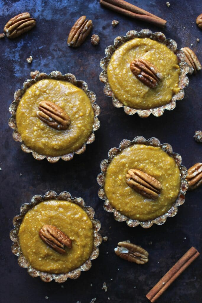 4 Pumpkin Pie Tarts