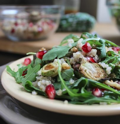 Brussels Sprout and Pomegranate Salad