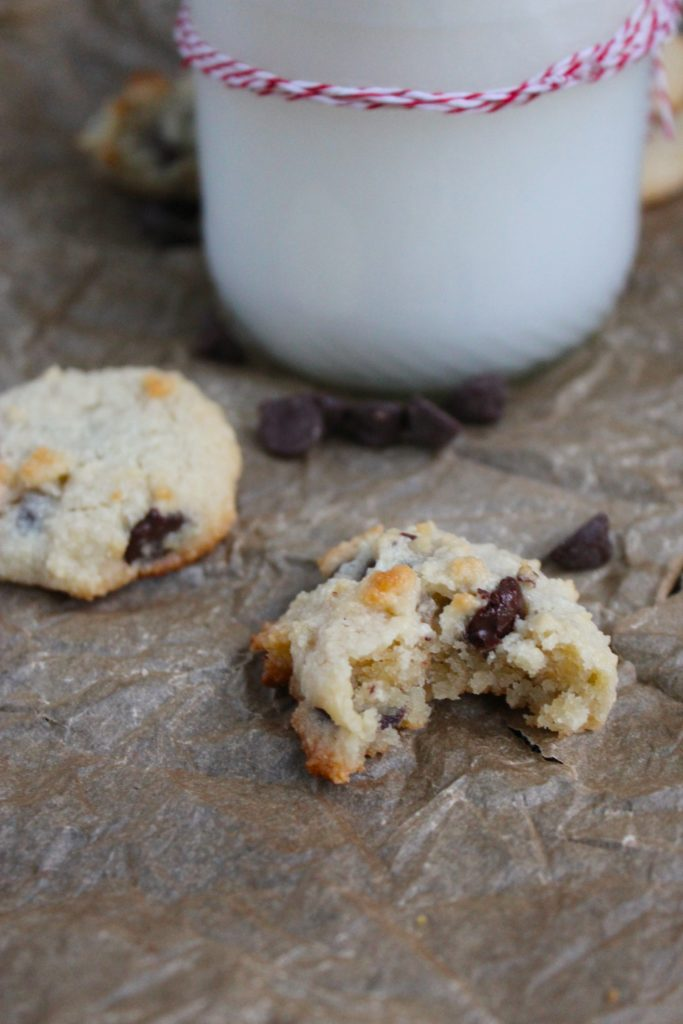 Inside of Gluten Free Chocolate Chip Cookies