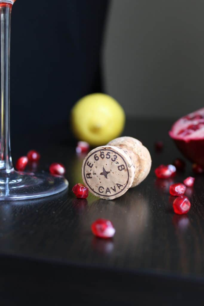 Pomegranate Lemon Cork Glass