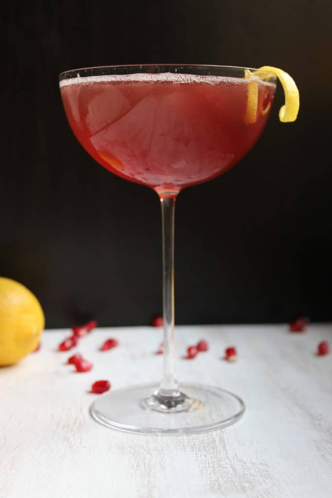 Pomegranate French 75 in Glass