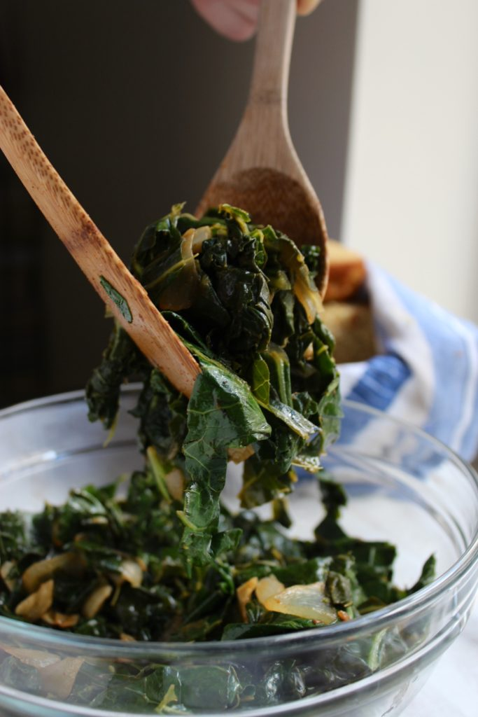 Cajun Sautéed Greens Spoon