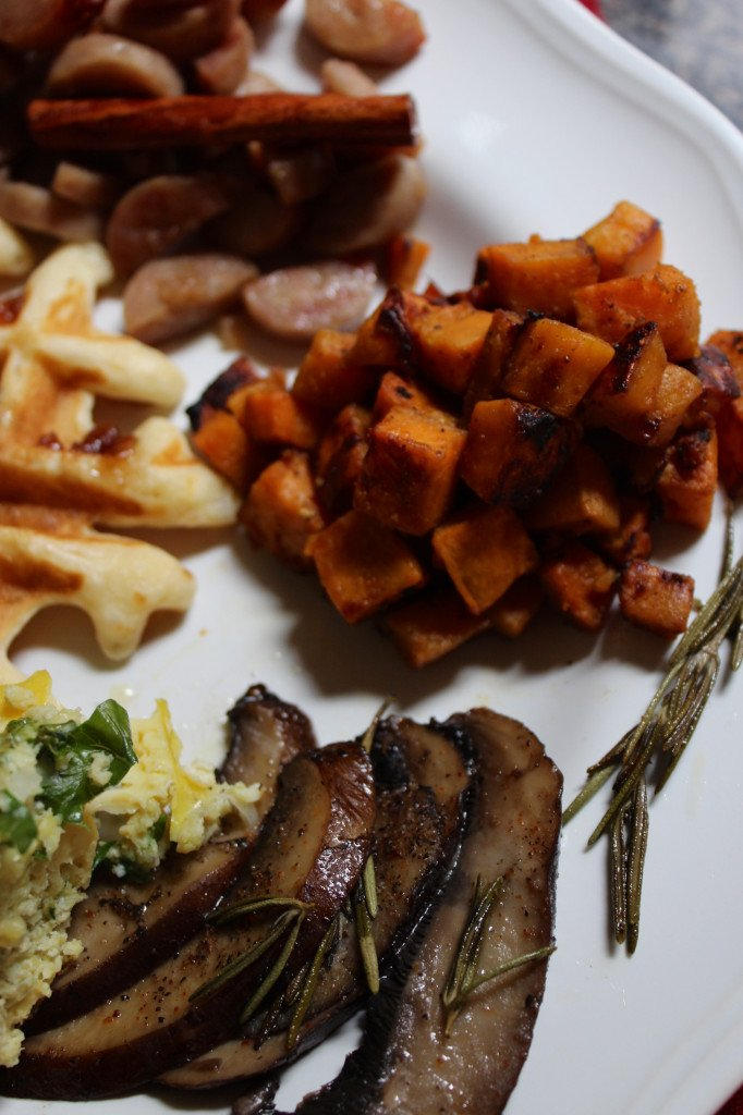 Sweet Potato Mushrooms Rosemary