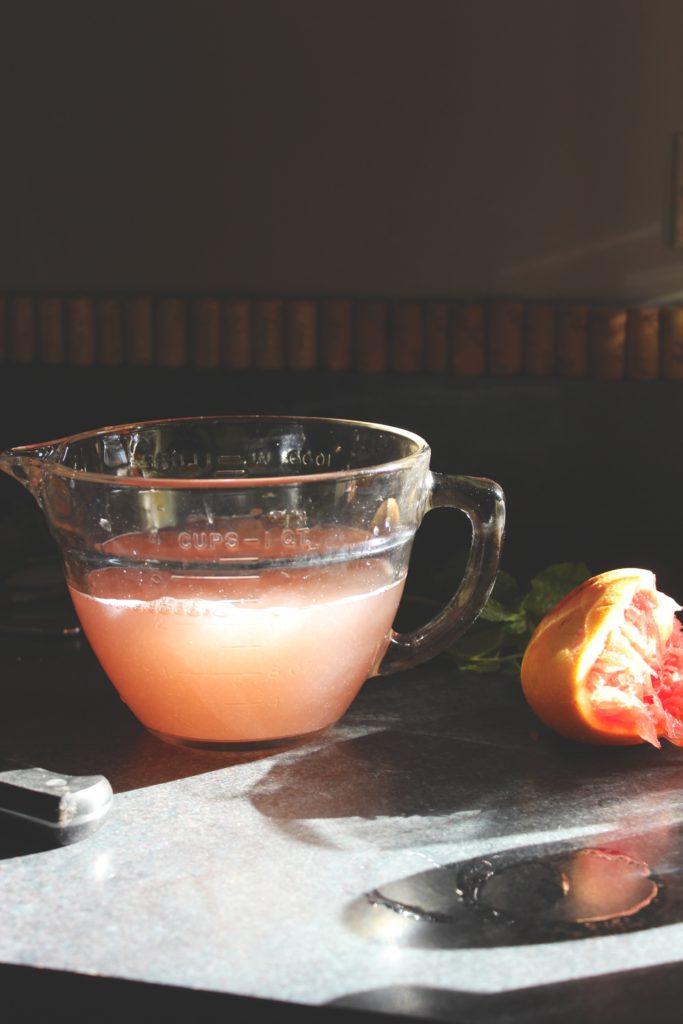 Grapefruit Mint Juice Jug