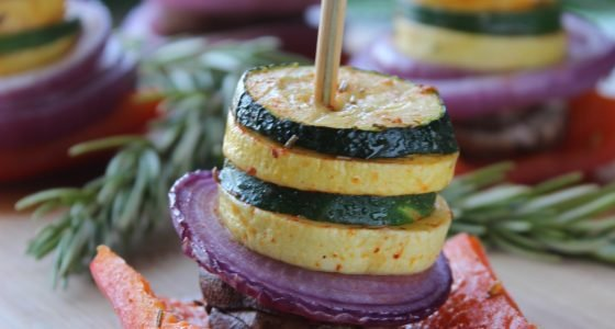 Easy Oven-Roasted Veggie Stacks