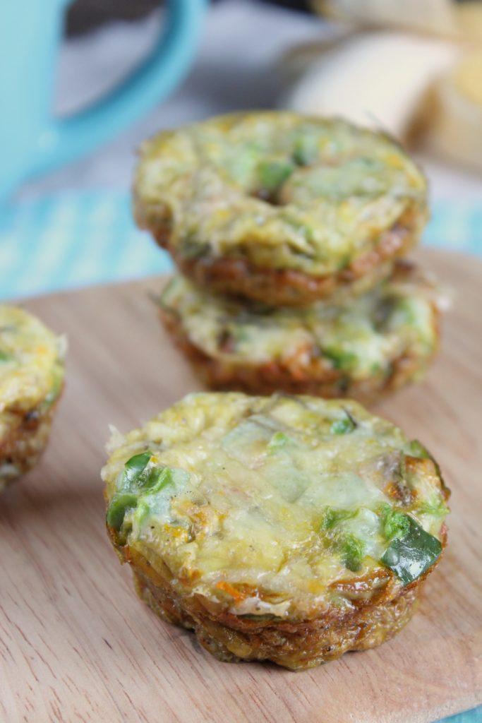 4 Sweet Potato Quiche Muffins