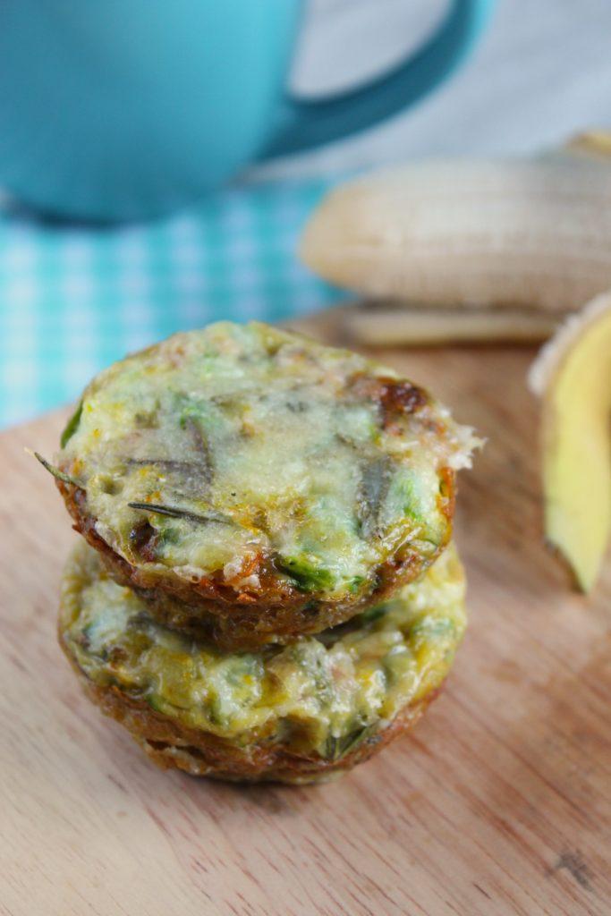2 Sweet Potato Quiche Muffins