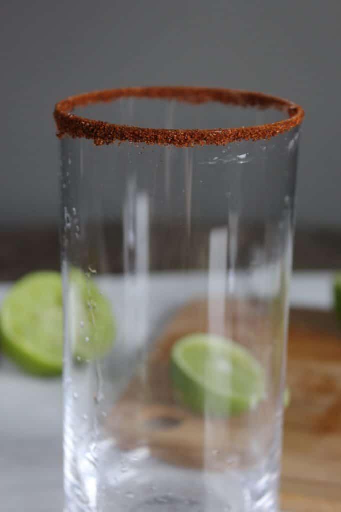 Glass with Chili Around Top