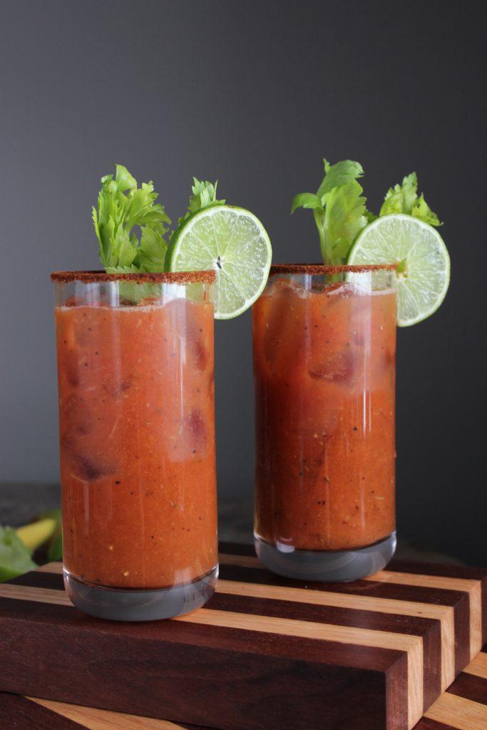 2 Chili Mango Bloody Marys