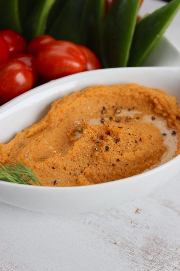 Chipotle Sweet Potato Hummus in Bowl