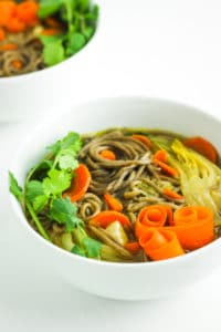 30-Minute Asian Soba Noodle Soup – This soup is my go to weeknight dinner idea. It's such an easy one pot vegan meal!