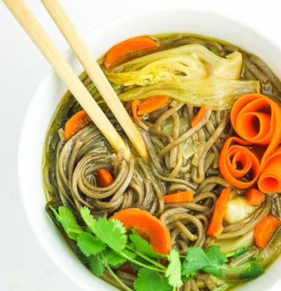 30-Minute Asian Soba Noodle Soup