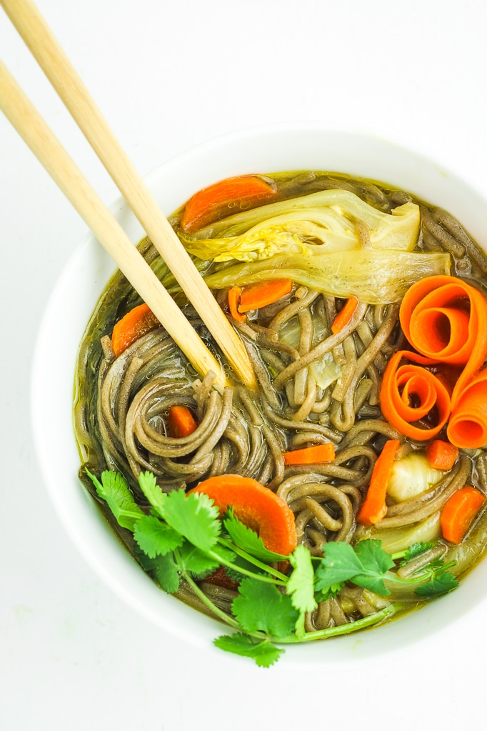 30-Minute Asian Soba Noodle Soup