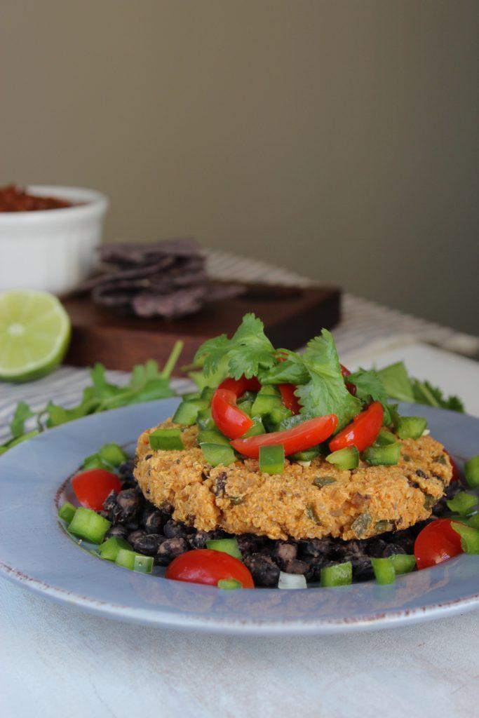Fajita Burger on Plate