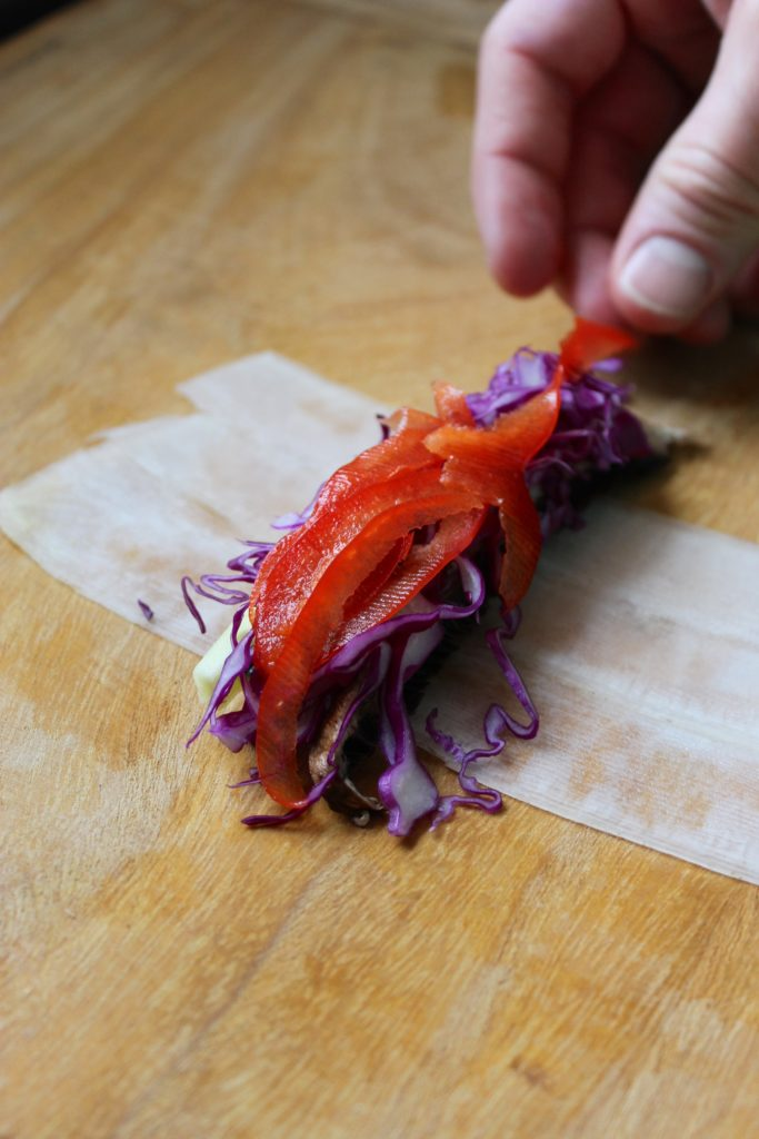 Pepper Red Cabbage Roll