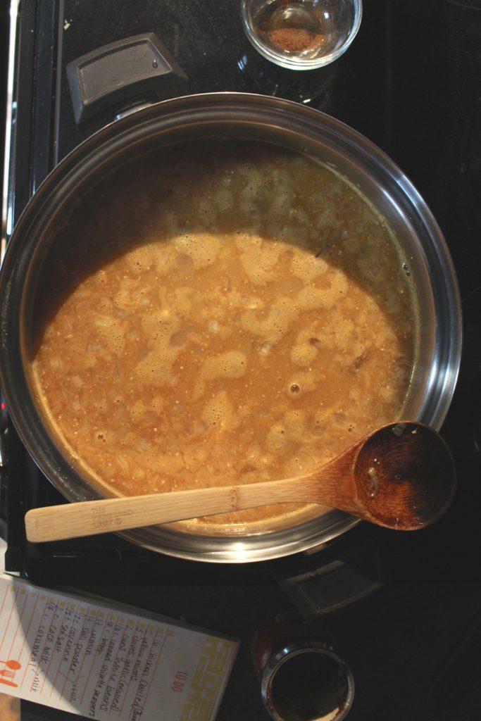 Chipotle White Bean Chicken Chili Pan Spoon