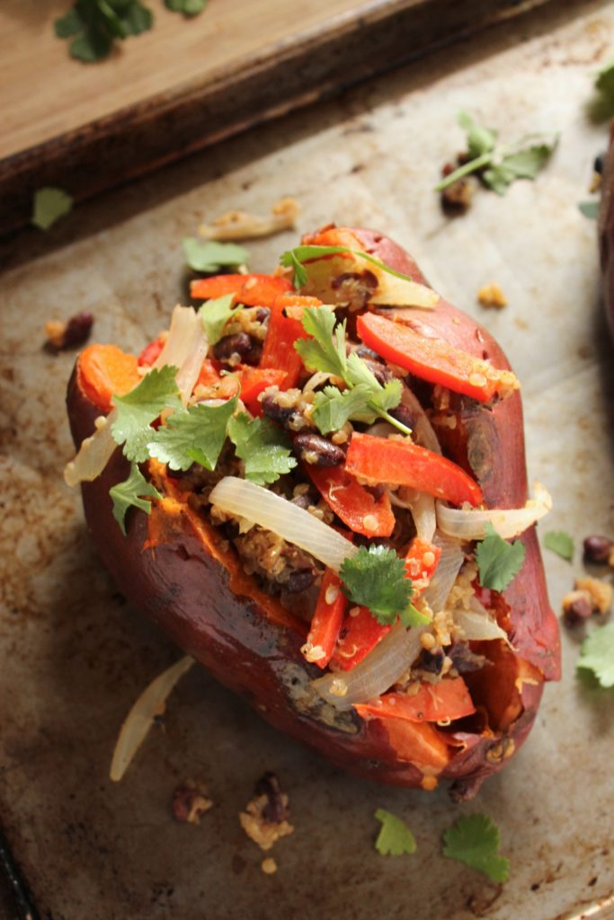 Easy Stuffed Sweet Potato