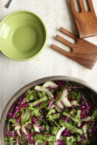 10-Minute Healthy Bok Choy Salad with Creamy Tahini Dressing