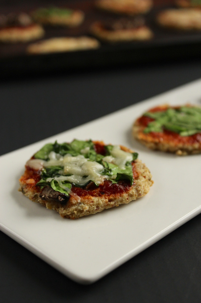 Mini Cauliflower Crust Pizza Bites - The Fitchen