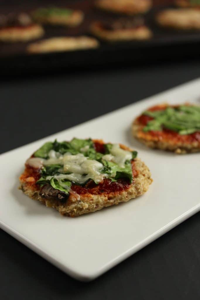 2 Mini Cauliflower Crust Pizza Bites